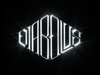 Diabolus Band Logo typography music art lettering cinema4d cinema 4d 3d render 3d art direction logo design branding