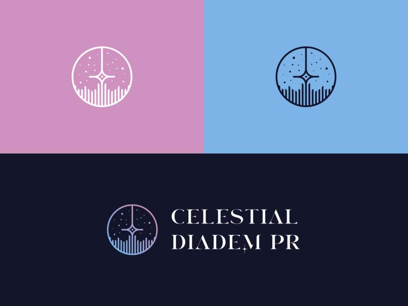 Celestial Diadem Logo logo design lettering vector art direction logo design branding