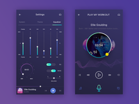 Music settings and player app page