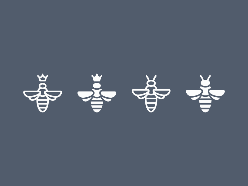 iOS icons: Bees honeycomb honeybee crown queen ios filled icons glyphs honey queen bee bee outline ui icon set icons8 graphic design design icons icon digital art vector