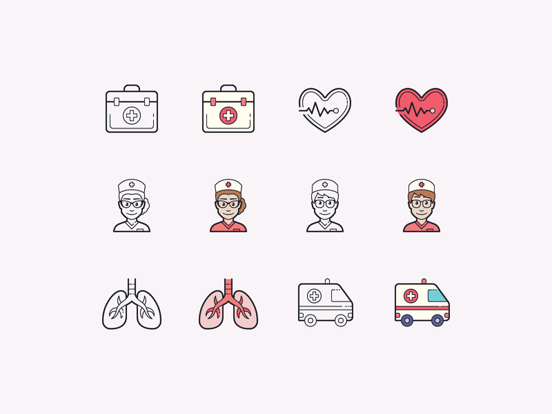 Hand Drawn icons: Healthcare