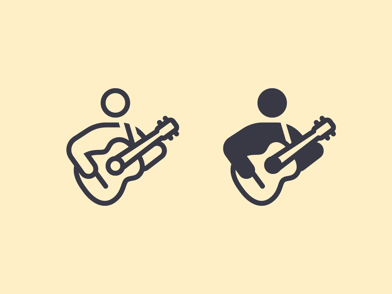 iOS icons: Guitar Player