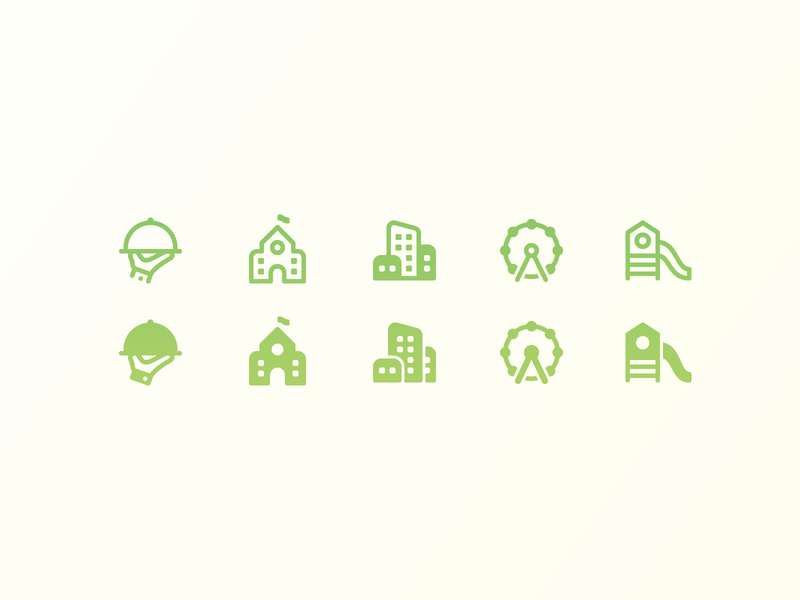 Fluent System icons: City traveling outline icon glyph icon system icon playground restaurant amusement park school building city outline ui icon set icons8 graphic design icons icon digital art design vector