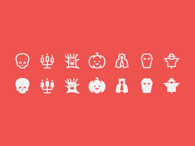 Fluent System icons: Halloween halloween spooky season candle skull masquerade scarecrow coffin scary tree pumpkin glyphs outline ui icon set icons8 graphic design icons icon digital art design vector