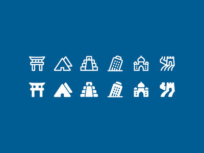 Fluent System icons: Cultural Buildings japan taj mahal torii great wall pisa tower chichen itza india italy pyramid outline ui icon set icons8 graphic design icons icon digital art design vector