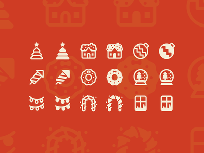Fluent System icons: Christmas holidays winter snowball christmas wreath christmas icons design elements christmas card christmas tree christmas glyphs outline ui icon set icons8 graphic design icons icon digital art design vector