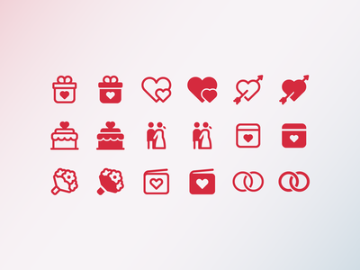Fluent System icons: Wedding newlyweds wedding rings bridal bouquet heart with arrow wedding cake invitation gift wedding outline ui icon set icons8 graphic design icons icon digital art design vector