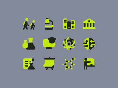 Plumpy icons: Science school app studying university remote working online courses education app teacher physics science two-tone glyphs icon set ui icons8 graphic design icons icon digital art design vector