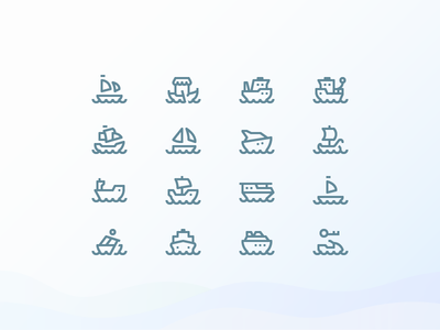 Water Transport 1em Icons