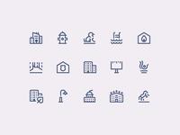 1em icons: City