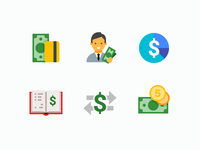 Flat color Icons: Business & Finance