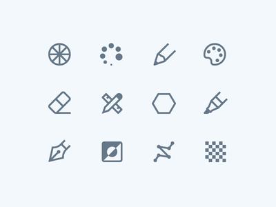 1em icons: Design & Editing