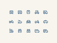 1em icons: Ground Transportation