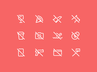 1em icons: Restrictions