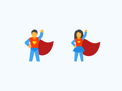 Flat Color icons: Superheroes power character flat illustration graphic design superhero color design vector icons icon digital art