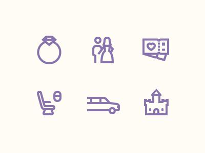 Windows 10 Icons: Lavender Wedding Story