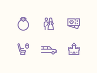 Windows 10 Icons: Lavender Wedding Story