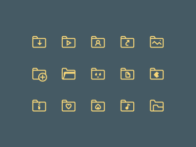 Simple Small icons: Folders