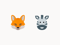 Color icons: Animals