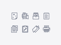 iOS icons: Office Equipment & Supplies