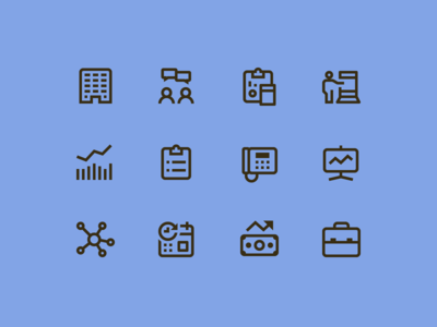 Simple Small icons: Business