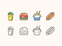 Plasticine & Carbon Copy icons: Fast Food