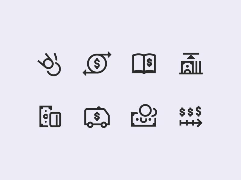 Windows 10 Icons: Finance by Marina Fedoseenko for Icons8 on Dribbble