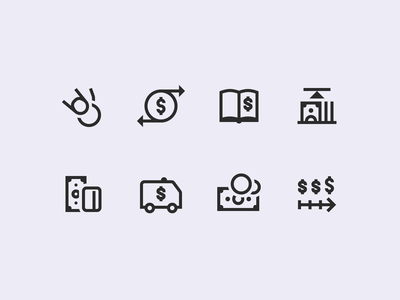 Windows 10 Icons: Finance exchange dollar sign ledger money credit card dollar windows 10 finance cash stroke icons8 ui icon set outline graphic design design digital art vector icons icon