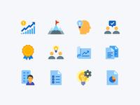 Flat Color icons: Project Management