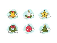 Cloud icons: Christmas
