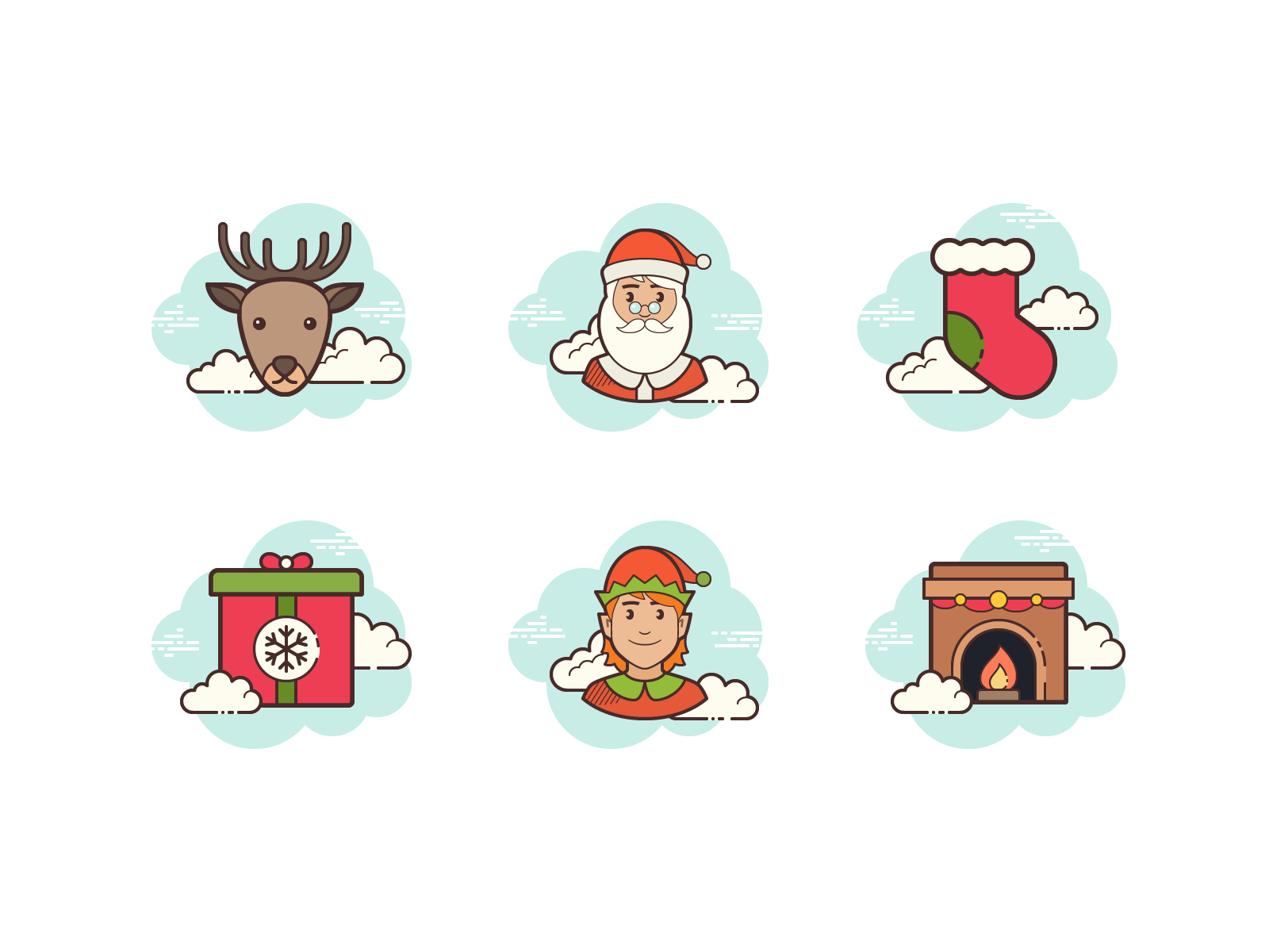Icons8 clouds christmas