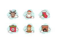 Cloud icon: Christmas
