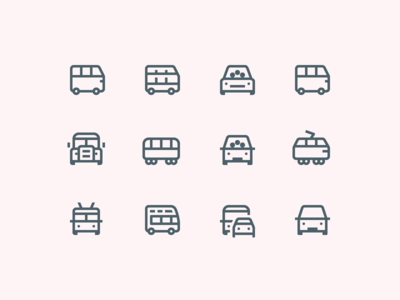 Simple Small icons: Urban Public Transport