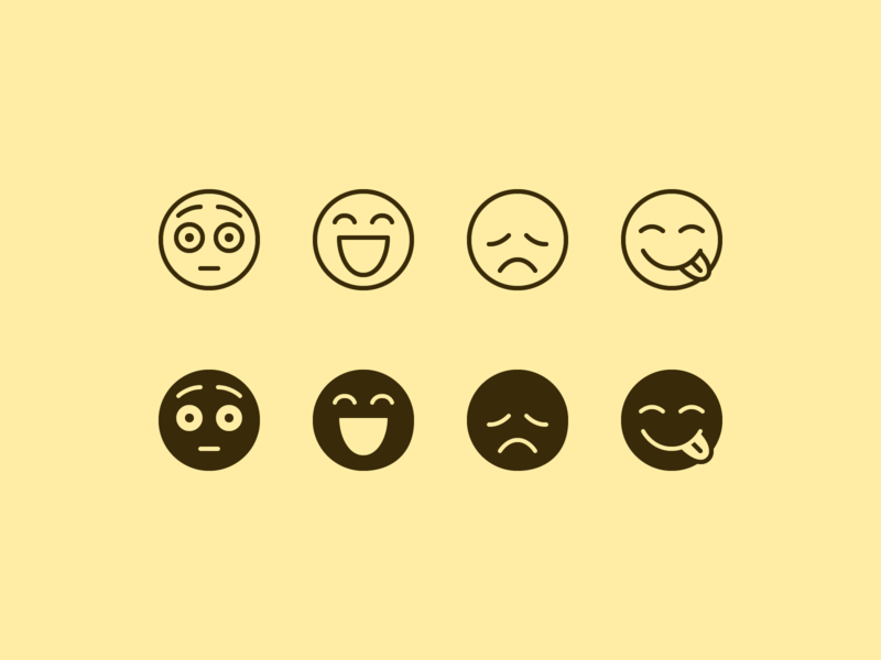 iOS icons: Emoji tongue out emoji design emoji art embarrassed sad happy emoji set emoji ios stroke icons8 outline ui icon set graphic design design digital art vector icons icon