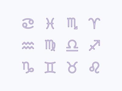 Office icons: Zodiac Symbols