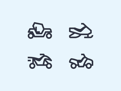 Simple Small icons: All-Terrain Vehicles buggy quad bike snowmobile cross-country vehicle atv all-terrain vehicle vehicle transport 1em stroke outline icons8 ui icon set graphic design design digital art vector icons icon