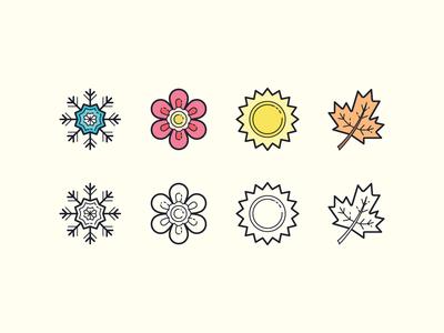 Hand Drawn icons: Seasons