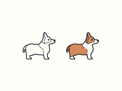 Hand Drawn icons: Funny Corgi
