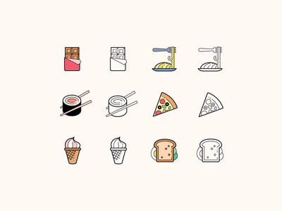 Hand Drawn icons: Food