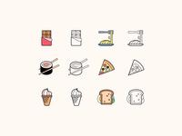 Hand Drawn icons: Food
