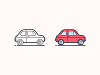 Hand Drawn icons: Fiat 500