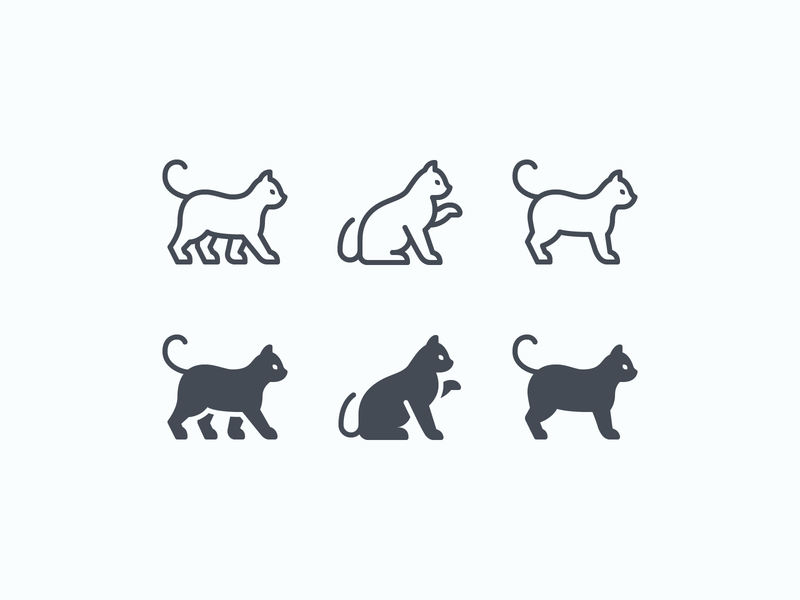 iOS icons: Cats pet care animals pet health care app veterinarian stroke icons pets veterinary pet cat cats outline ui icons8 icon set graphic design design digital art vector icons icon