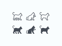 iOS icons: Cats