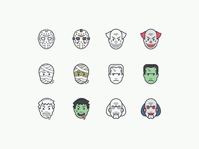Hand Drawn icons: Halloween