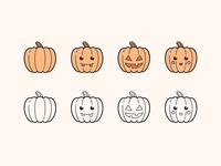 Hand Drawn icons: Pumpkins
