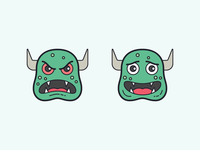 Color Hand Drawn icons: Monsters