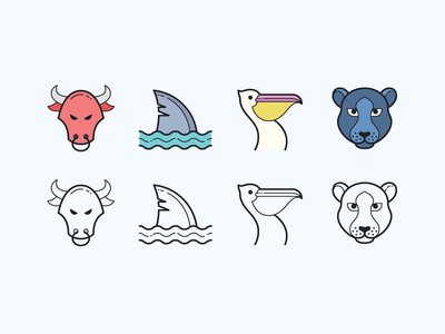 Hand Drawn icons: Animals