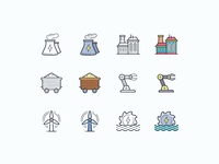 Hand Drawn icons: Industry