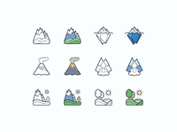Hand Drawn icons: Nature