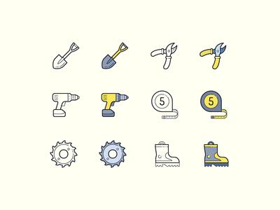 Hand Drawn icons: DIY